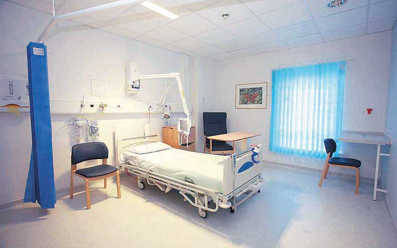 bed in hospital ward