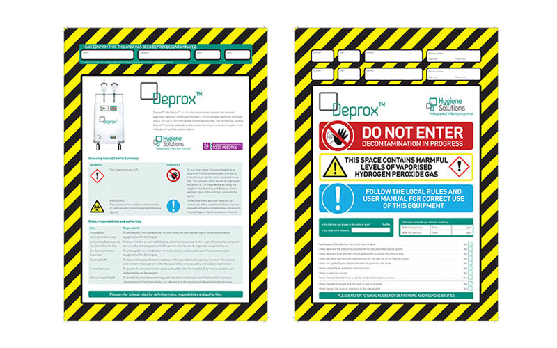 Example of Deprox warning signs
